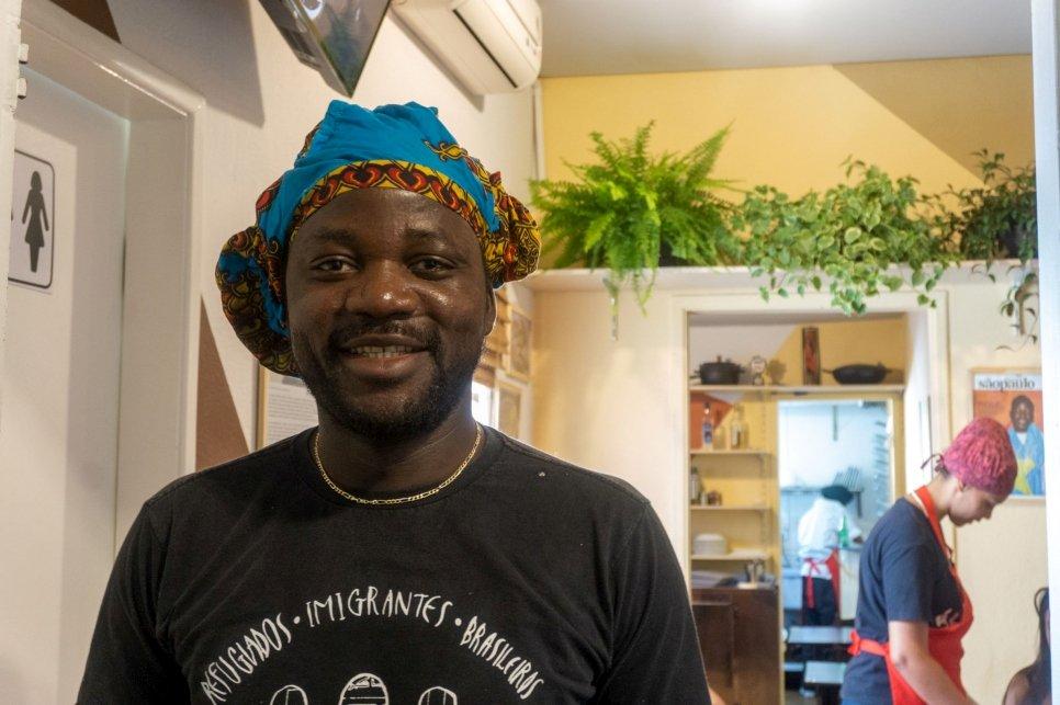Pitchou, refugiado congoleño en Brasil