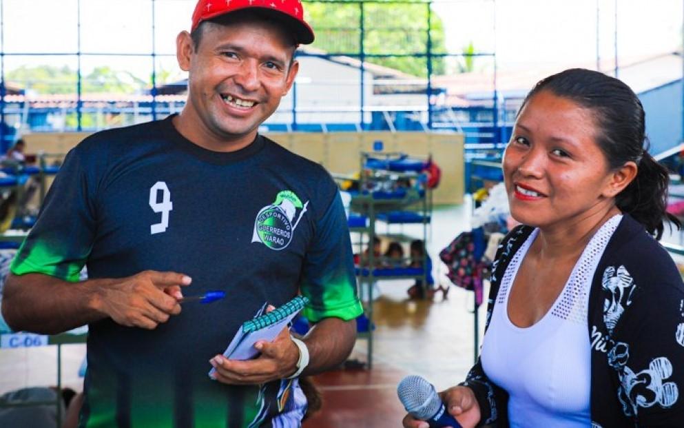 Alcioni Torres, líder indígena Warao en Brasil