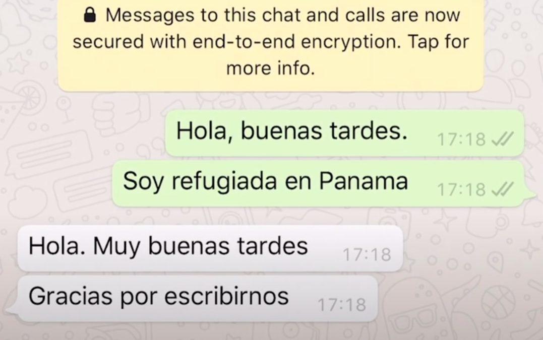 María, solicitante de asilo hondureña en Panamá